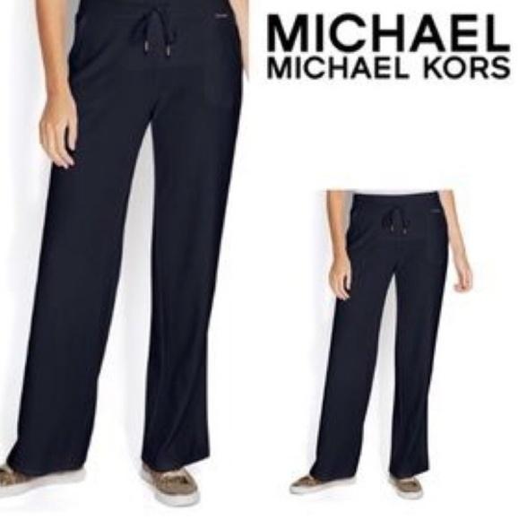 4284a490c6094 Michael Kors Pants | Sale Black Velour Jogging | Poshmark